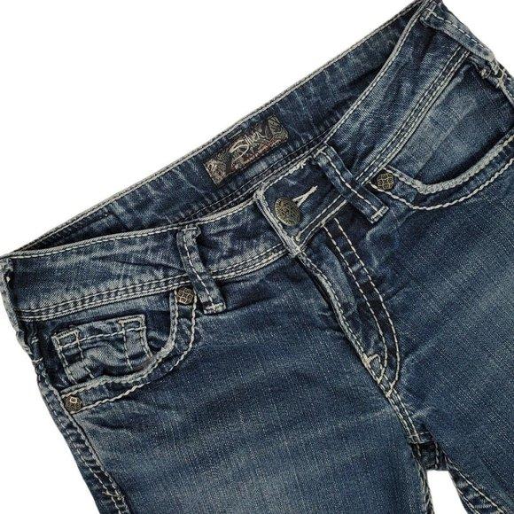 Silver Jeans Women's Suki Bootcut Low Rise Hemmed